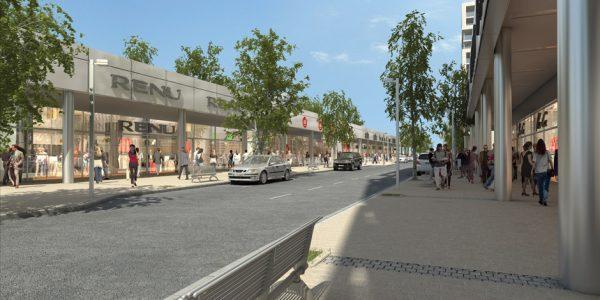 מרכז מסחרי תלפיות החדשה - מבט רחוב