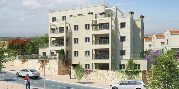 צור הדסה - הדמייה בניין 4 קומות